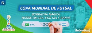"""Usuários poderão """"apagar gol"""" em Copa Mundial de Futsal"""
