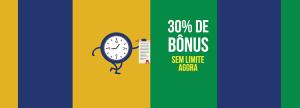 Agora: Feriado dá 30% de bônus sem limite