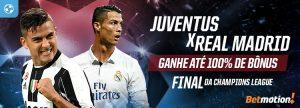 Final histórica da Champions League renderá bônus de 50, 75 e 100%