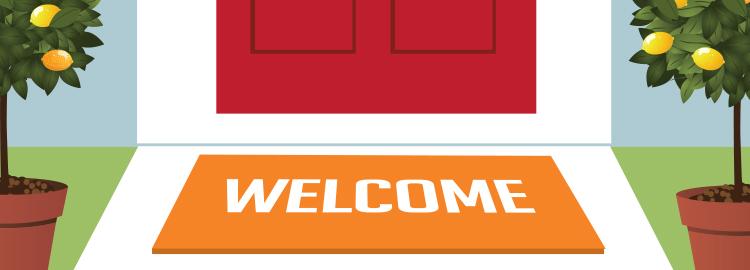 puerta welcome