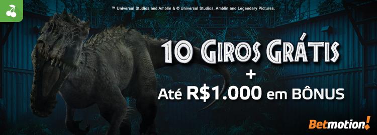 Promo 10 Giros Gratis Jurassic World