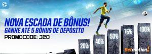 Nova Escada de Bônus premiará 5 depósitos em 1 semana