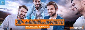 Use o promocode e ganhe 30% de bônus em Sports