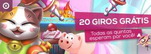 Quinta-feira traz 20 Giros Grátis em Video Bingo surpresa
