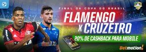 Final da Copa do Brasil: aposte pelo celular e receba 20% de volta