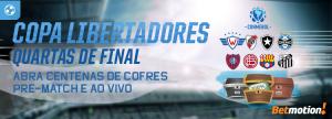 Ache os cofres nos jogos da Libertadores e ganhe milhares de prêmios
