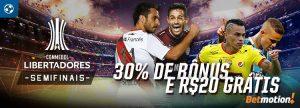 Semifinais da Libertadores dão duas chances de ganhar