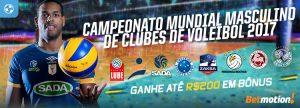 Ganhe até R$200 em Bônus no Mundial de Clubes de Voleibol