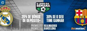 Real Madrid x Barcelona: Ganhe até 50% de Bônus