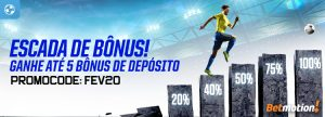 Escada de Bônus dá até 5 prêmios de depósito