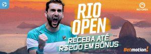 Receba até R$200 em Bônus no Rio Open