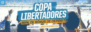 Copa Libertadores dá 30% de Bônus de depósito