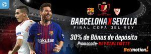 Final Copa del Rey dá 30% de Bônus de depósito