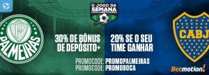 Palmeiras x Boca dará duas chances para ganhar Bônus