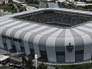 Presidente do Atlético celebra início de obras da Arena MRV