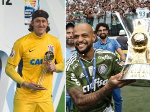 Vídeo: Luta contra COVID-19 une rivais Cássio e Felipe Melo