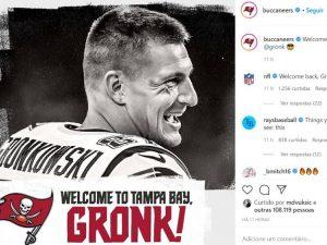 NFL: Buccaneers terá Brady e Gronkowski, ex-dupla do Patriots