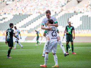 Na briga por Champions, Mönchengladbach vence Wolfsburg