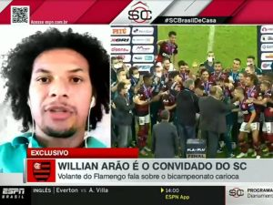 Willian Arão responde se Jorge Jesus fica ou não no Flamengo
