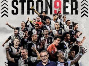 CR7 marca, e Juventus conquista nono título italiano seguido
