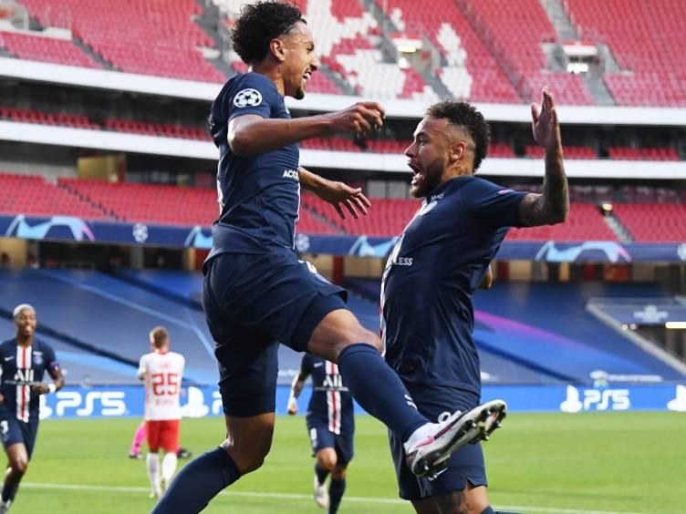 comemoração-marquinhos-neymar-psg-semifinal-champions_foto-twitter-championsleague