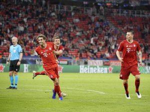 Bayern vence Sevilla na prorrogação e fatura Supercopa