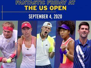 Dia 5 do US Open tem Djokovic e Naomi Osaka em quadra