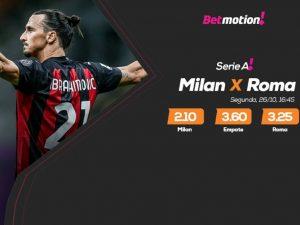 Líder Milan recebe Roma para defender longa invencibilidade