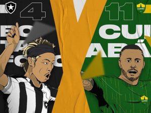 Botafogo e Cuiabá iniciam duelo da Copa do Brasil nesta terça