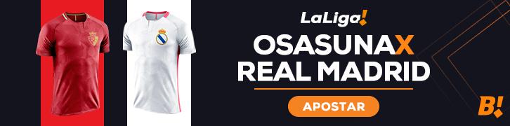 Osasuna recebe Real Madrid, pela LaLiga