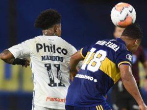 Arbitragem não dá pênalti, e Santos fica no 0 a 0 com Boca
