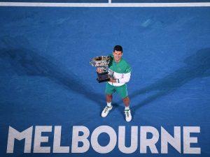 Com 18 Grand Slams, Djokovic está a dois de Federer e Nadal