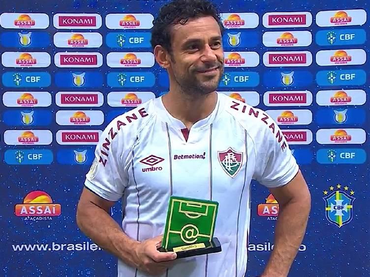 Fred, o Craque do Jogo na transmissão da Globo