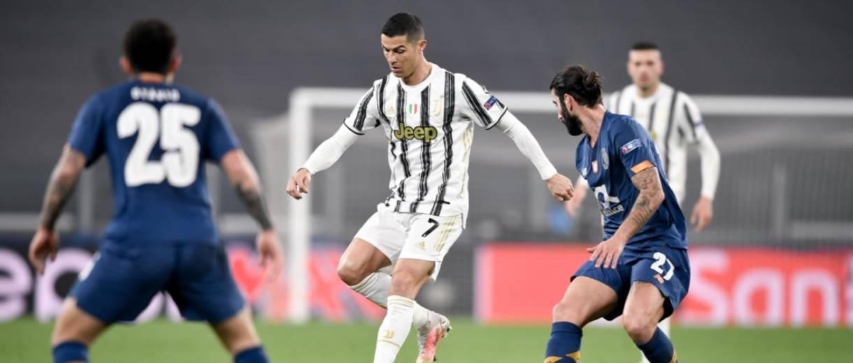 Juventus 3 x 2 Porto. Em ação, Cristiano Ronaldo