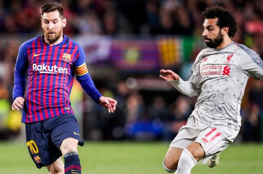 Messi vs Salah em jogo da Champions
