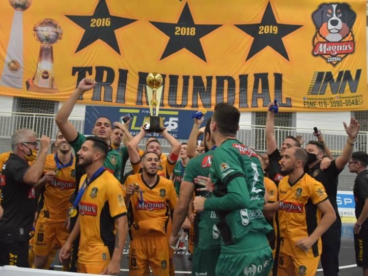 Magnus Futsal campeao da liga nacional de futsal de 2020