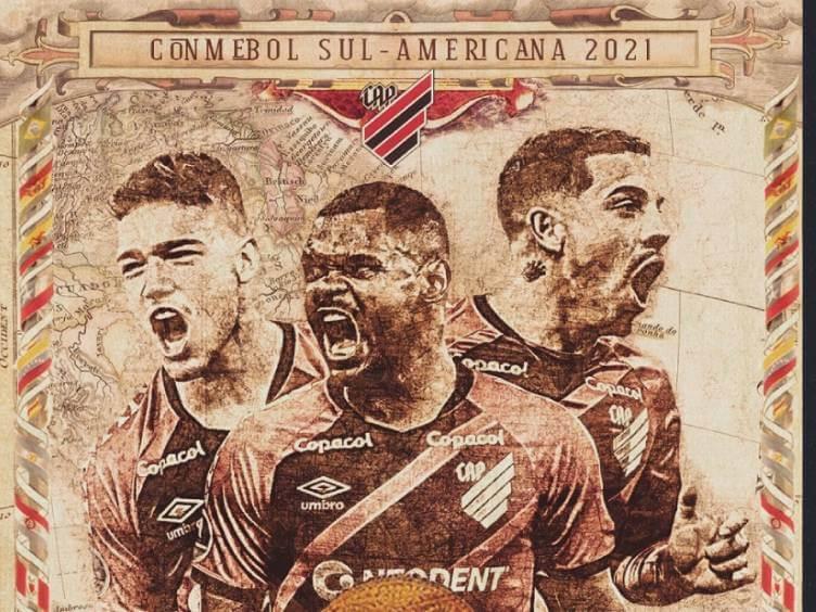 arte do athletico para jogo de ida contra peñarol semifinais sul-americana 2021