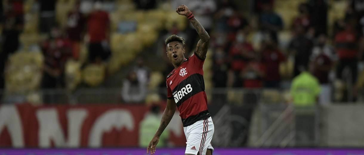 destaque-foto-bruno-henrique-dois-gols-contra-barcelona-conmebol-libertadores-2021