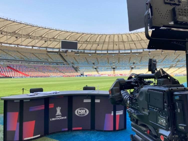 posição do fox sports no maracanã antes de flamengo x barcelona-equ pelas semifinais da libertadores 2021